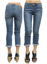 Denim032 H&G Basic Capri Denim/Washed Denim
