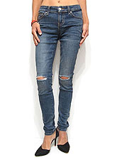 Denim051 Ripped Knee Skinny Denim/Denim