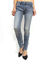 Denim066 Standard Skinny Denim/Washed Denim