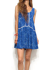 Dress110 Garment Dye Floral Skimpy Dress/Blue