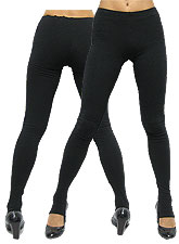 Pants100 Basic Stirrup Leggings/Black