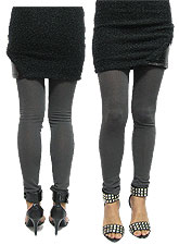 Pants103 Basic Knit & Cut Leggings/Grey