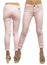 Pants116 Stretchy Skinny Pants/Powder Pink