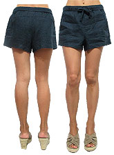Pants121 Basic Linen Shorts/Navy