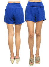 Pants136 Linen Short Pants/ Blue