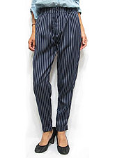 Pants152 Pin-Stripe Roll-Up Pants/Navy