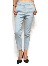 Pants205 Comfy Relaxed Skinny Ankle Pants/Blue