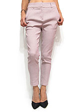 Pants206 Comfy Relaxed Skinny Ankle Pants/Mauve