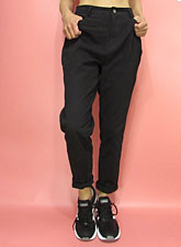 Pants248 Loose-Fitted Tapered Pants/Black