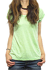 Tops316 Basic Scoop Neck Triblend T/Green