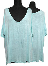 Tops484 Deep V Hi-Low Top/ Mint