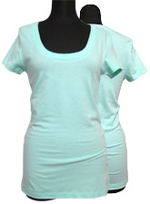Tops550 Basic Scoop Neck S/S T-Shirt/Aqua