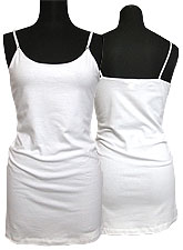 Tops556 Basic Adjustable Long Cami/White