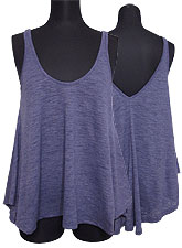 Tops559 Hi-Low Flare Tank Top/Purple