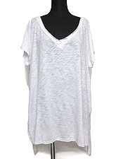 Tops614 Double V-Neck T-Shirt/ White