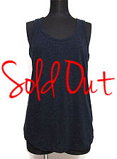 Tops618 Basic Biker-BackTank Top/Navy