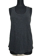 Tops620 Basic Biker-Back Tank Top/Charcoal