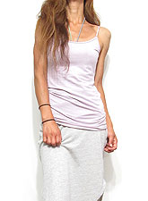 Tops664 Basic Adjustable Long Cami/Iris