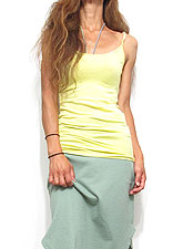 Tops665 Basic Adjustable Long Cami/Lemon