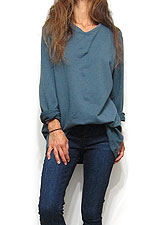 Tops722 Oversized Sweat Top/ Teal