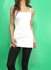 Tops726 Basic Adjustable Long Cami/White