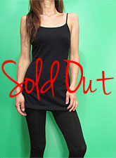 Tops728 Basic Adjustable Long Cami/Black