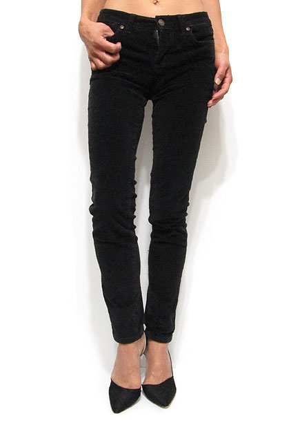 Pants214 Corduroy Skinny Pants/Black